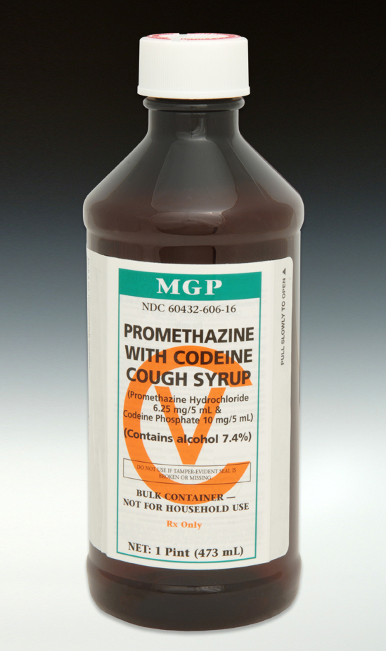 amount of codeine in promethazine syrup